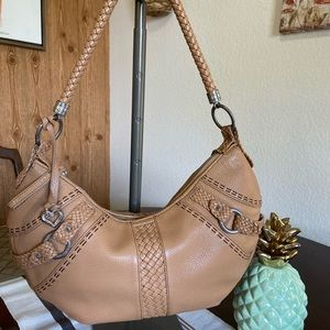 Brighton Nude/tan  Leather Shoulder Bag